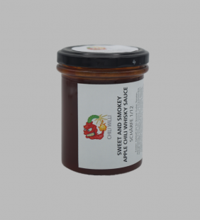 Sweet and Smokey Apple Chili Whiskey Sauce